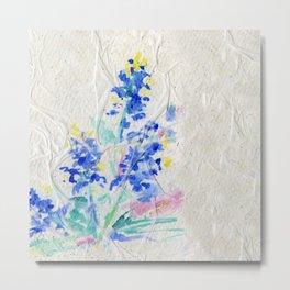 Blue Bonnets by Kathy Morton Stanion Metal Print