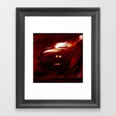Flaming Alfa Gtv 916 Framed Art Print