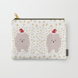 Happy Holidays Fluffy Carry-All Pouch