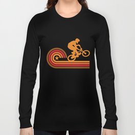 Retro Style BMX Bike Rider Vintage Long Sleeve T-shirt