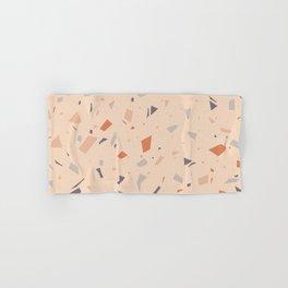 Warm Orange Terrazzo - Granite Marble Texture Pattern Hand & Bath Towel