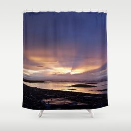 Beams of Light across the Sky Shower Curtain