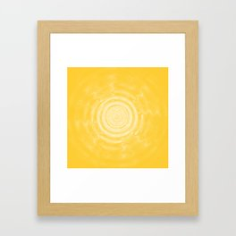 Ripples_Yellow Framed Art Print