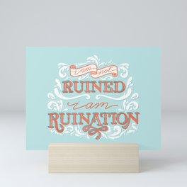 Grishaverse Quote Ruination Blue Orange Mini Art Print
