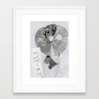 postcard Framed Art Prints featuring POstcard  by Lisa G Bauer