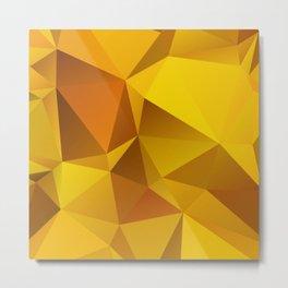 mustard yellow pattern Metal Print