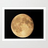 August 2014 Super Moon Art Print