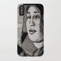 bianca green iPhone & iPod Cases featuring Bianca Davri by Anca Chelaru