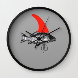 FCS Fin on a Surfing Surfer Fish Wall Clock