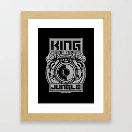 King Of The Jungle - Junglist Movement Worldwide Framed Art Print