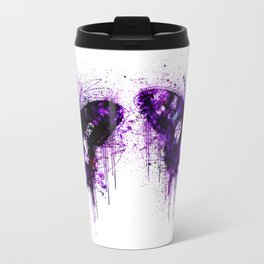 Crazy Butterfly artistic mixed media Travel Mug
