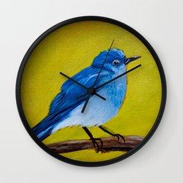 Bluie Blue Bird Wall Clock