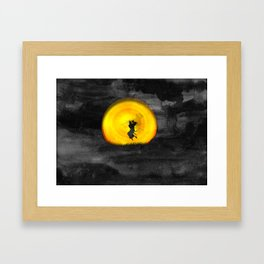 You may not be able to fight like a Samurai, but at least you can die like. Framed Art Print