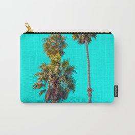 Turquoise Palm Trees, Palm Tree, California, Beach, Ocean, Travel, Paradise, Summer, Summertime Carry-All Pouch