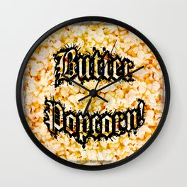 Butter Popcorn by Jeronimo Rubio Photography 2016 (all over) Wall Clock