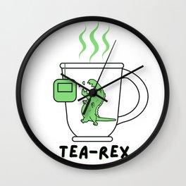 Tea-REX funny cup  Wall Clock