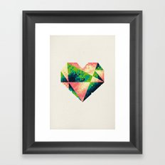 A heart is made of bits and pieces II Framed Art Print