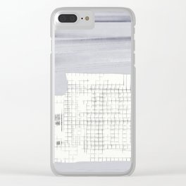 Urban Planing Clear iPhone Case