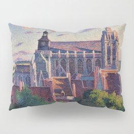 Cathedral at Gisors, View of the Ramparts, Paris, France by Maximilien Luce Pillow Sham