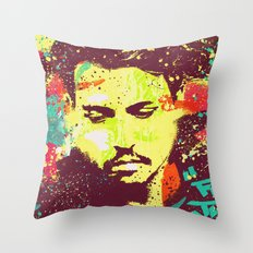 JOHNNY DEEP urban art Throw Pillow