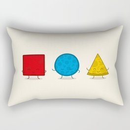Bauhaus Pizza - Cute Doodles Rectangular Pillow