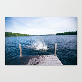 Lake Splash Canvas Print