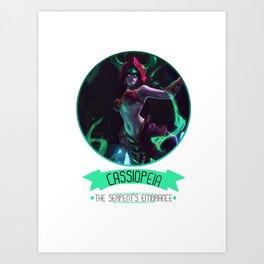 League Of Legends - Cassiopeia Art Print