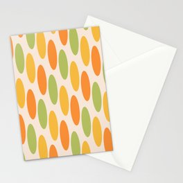 Mid Century Modern Geometric oval Pattern 723 Stationery Cards