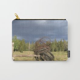 Barbed Wire Up in the White Mountains Arizona Carry-All Pouch