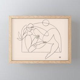 Dreamers no.7 (peach) Framed Mini Art Print