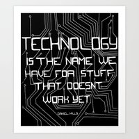 technology Art Prints featuring Technology by Hollie B