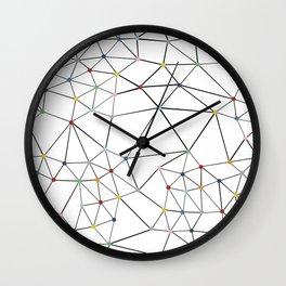 Segment Color Spot White Wall Clock