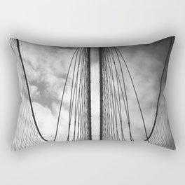 New York - Brooklyn Bridge, Black and White Rectangular Pillow