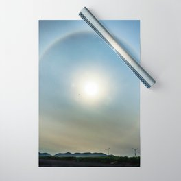Plane in the Sun circle Wrapping Paper