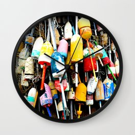 Maine Lobster Bouys Wall Clock