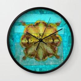Embezzled Head Trip Flower  ID:16165-074104-06071 Wall Clock