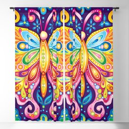 Psychedelic Butterfly - Art by Thaneeya McArdle Blackout Curtain