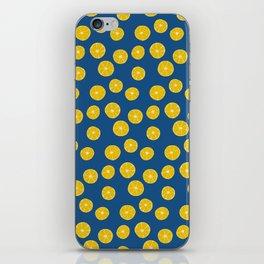 Blue Summer Lemons iPhone Skin