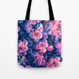 Colorful Succulent Plants Tote Bag