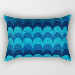 Abstraction_BLUE_WAVES Rectangular Pillow