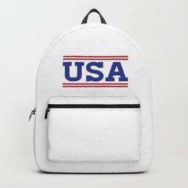 Retro USA Red White Blue Design Backpack