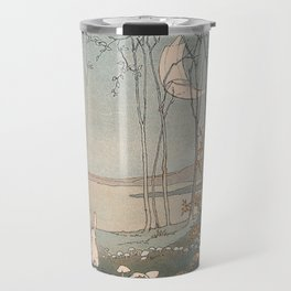Rabbit in the forest Travel Mug