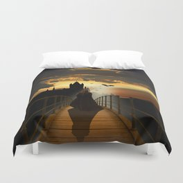 The monk Duvet Cover
