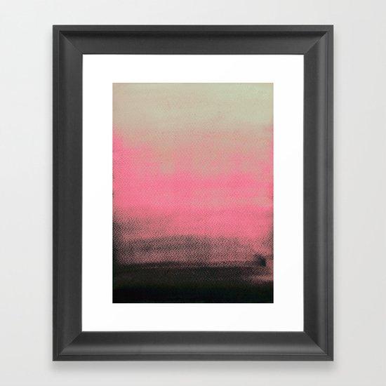 Space Between Framed Art Print