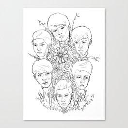 VIXX and Flowers Canvas Print