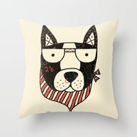 dog Throw Pillows featuring Dog by Farnell