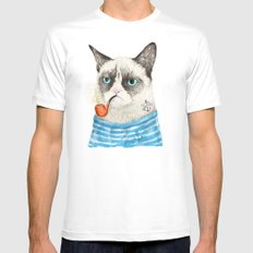 Sailor Cat I Mens Fitted Tee White MEDIUM
