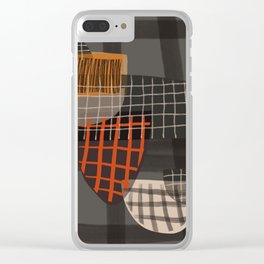 Grids 1 Clear iPhone Case