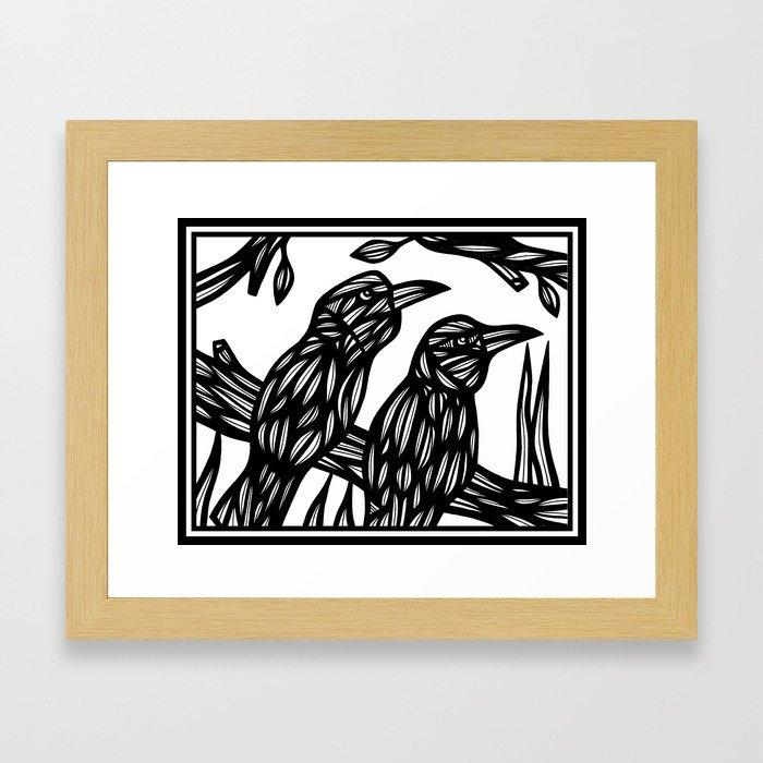 Swartzwelder Bird Black and White Framed Art Print