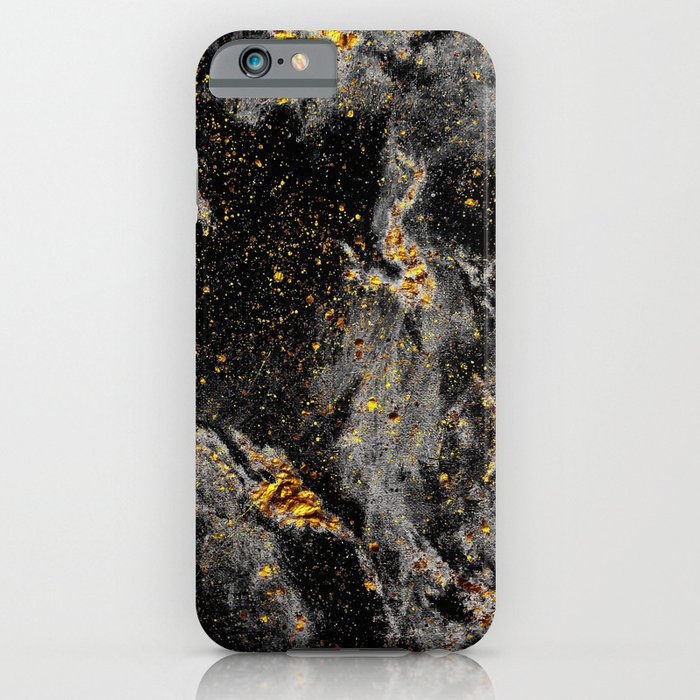 galaxy (black gold) iphone case